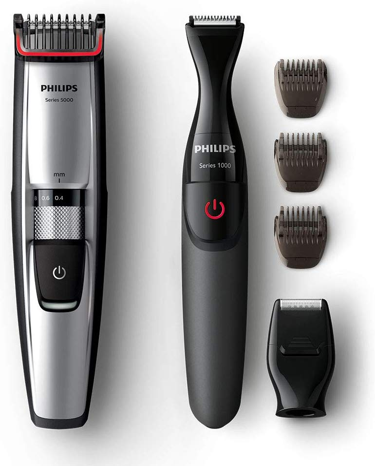 Philips Series 5000 Beard and Stubble Trimmer with Precision Multi Groom Styler