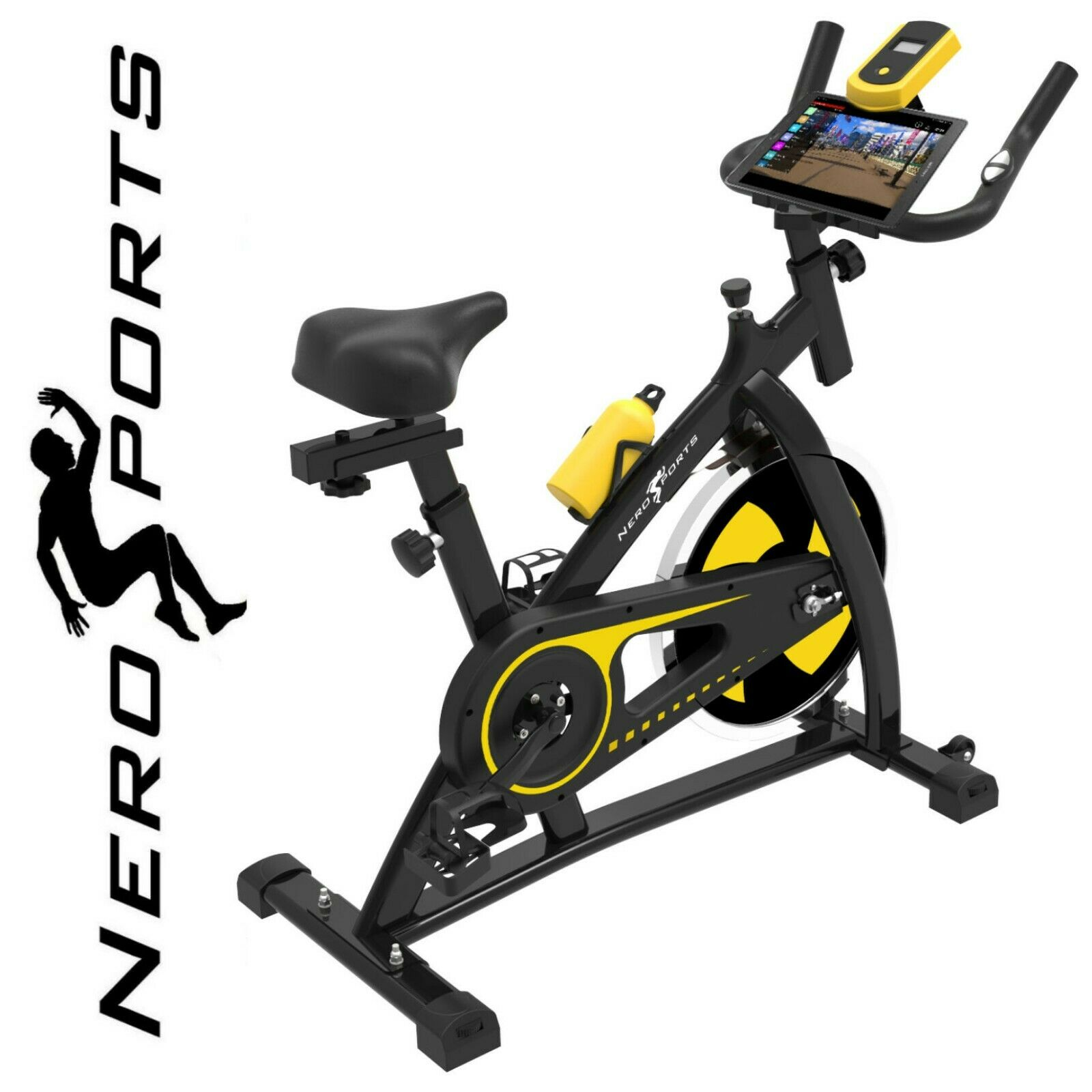 Nero Sports Spin Bike Aerobic Exercise Indoor Training Fitness Gym Spinning New