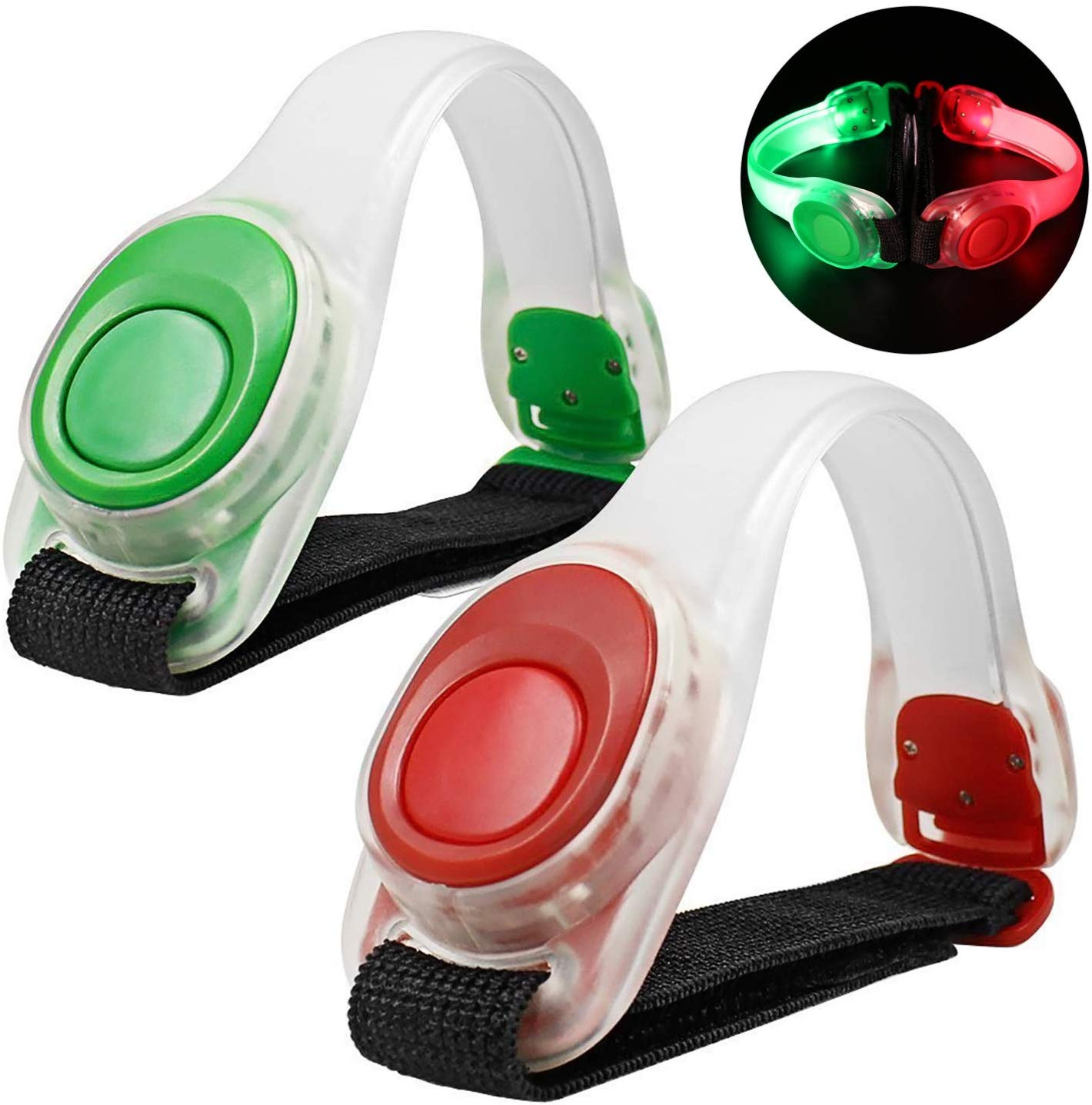N NEWKOIN Running LED Armband Runner Light Sport Reflective Band Jogging Light