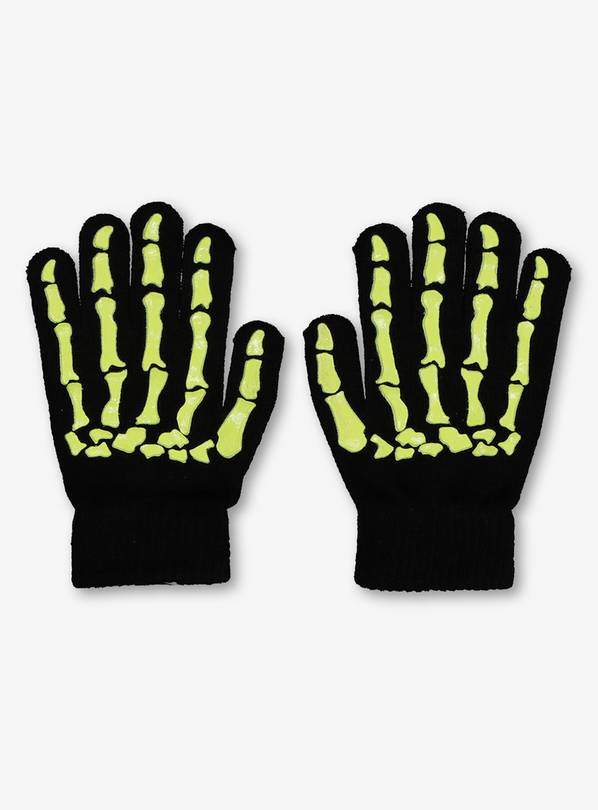 Halloween Black Skeleton Gloves – One Size for £2.5  on Argos