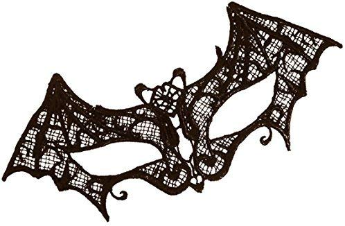 Black Lace Bat Mask Masquerade Ball Halloween Gothic Fancy Dress Accessory