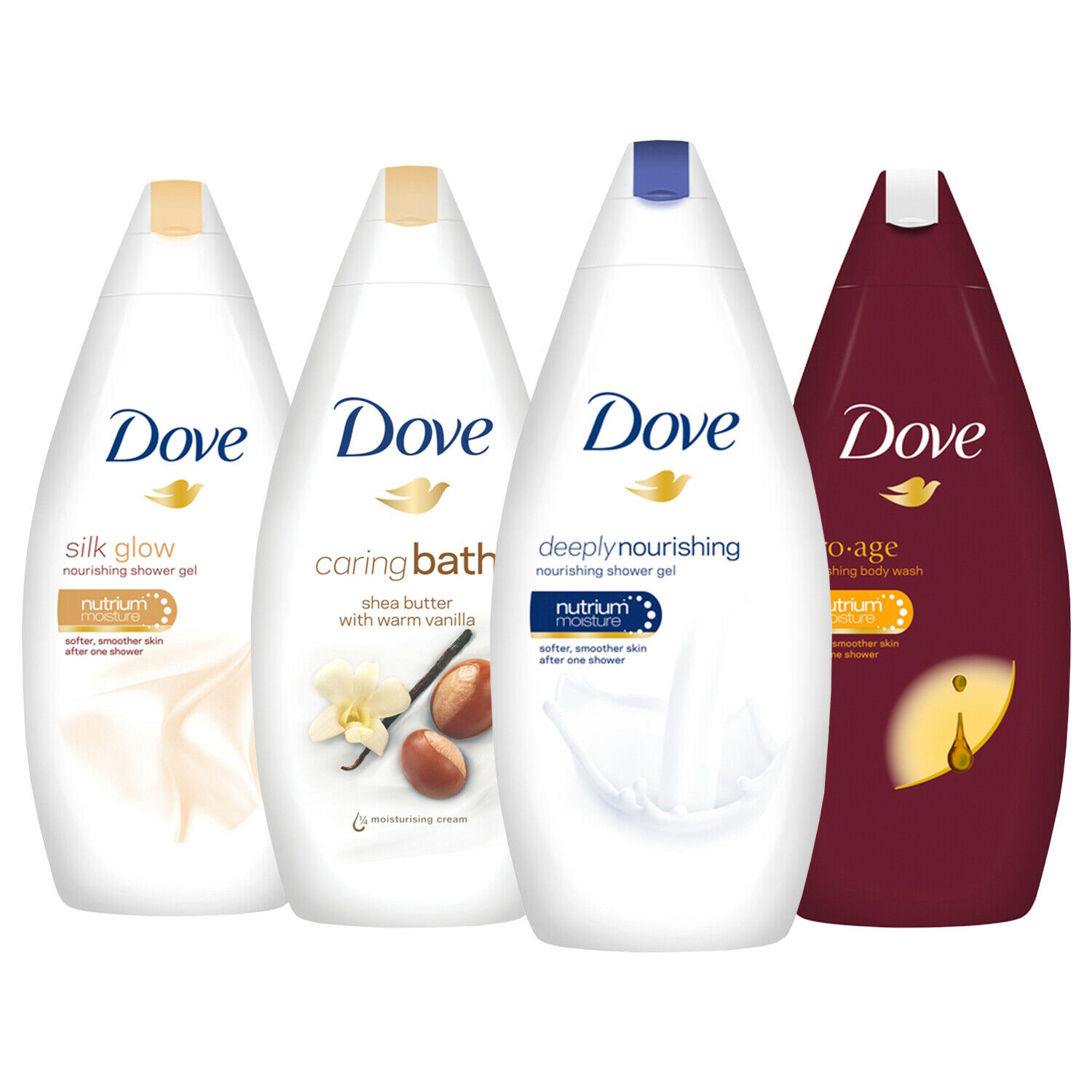 59% OFF Dove Nourishing Body Wash Bath Shower Gel – 6 Packs x 500ml
