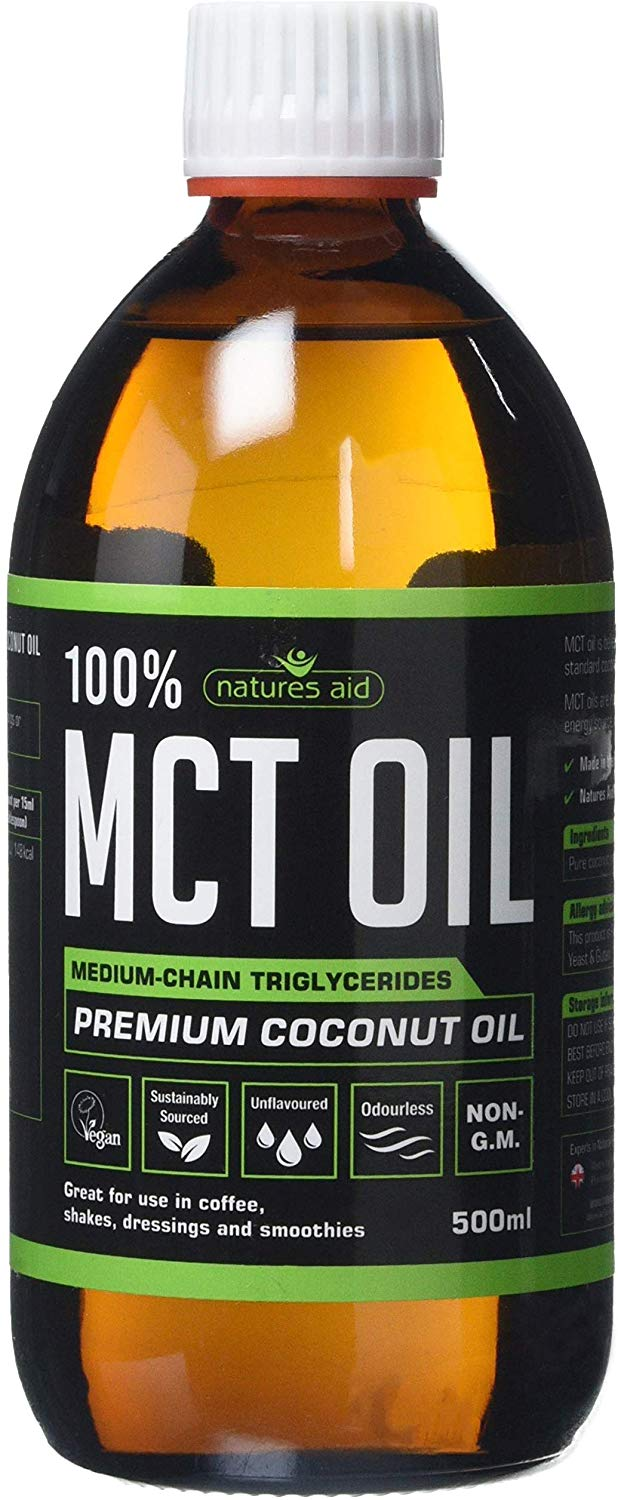 Natures Aid 100 Percent MCT Oil, Premium Coconut Oil,500ml