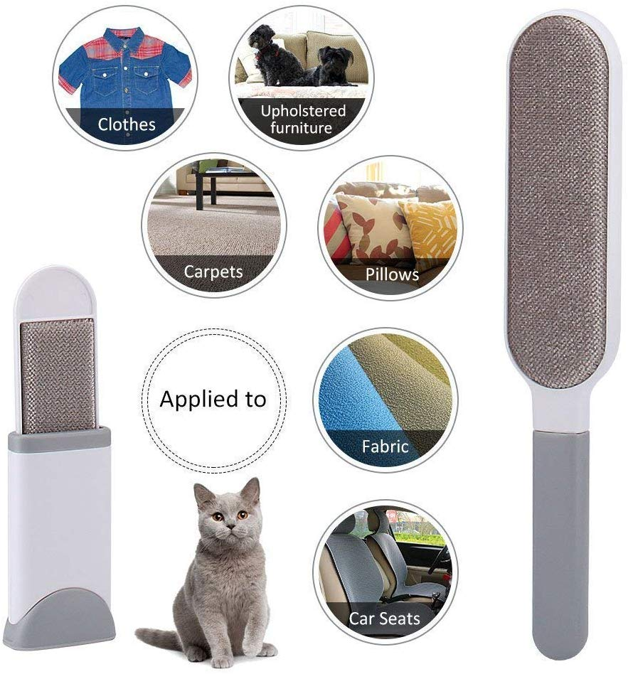ZGJT Pet Hair Remover,Lint brushes with Self-Cleaning Base