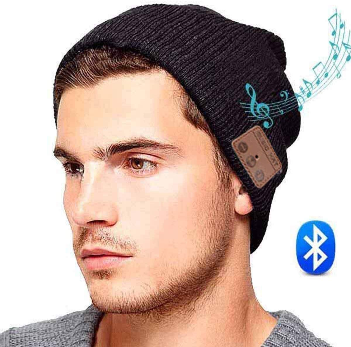 ULTRICS Wireless Bluetooth V5.0 Music Headset Hat, Organic Cotton Beanie Cap