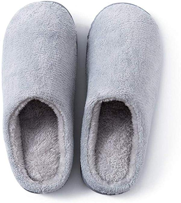 80% off Coral Fleece Warm Non-Slip Floor Home Slippers Indoor Bedroom Shoes Slippers