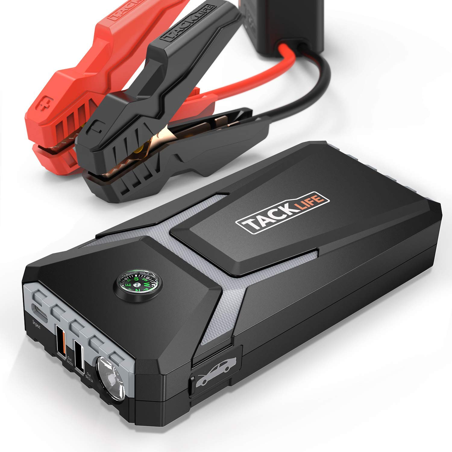 TACKLIFE Mini Jump Starter T8 MIX – 500A Peak Current, 12V, Jump pack (up to 4.0L Gas, 2.0L Diesel), 12000mAh