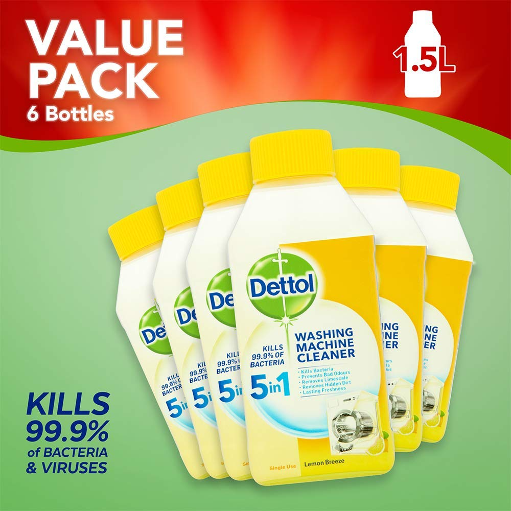 Dettol Washing Machine Cleaner Lemon Multipack, Pack of 6