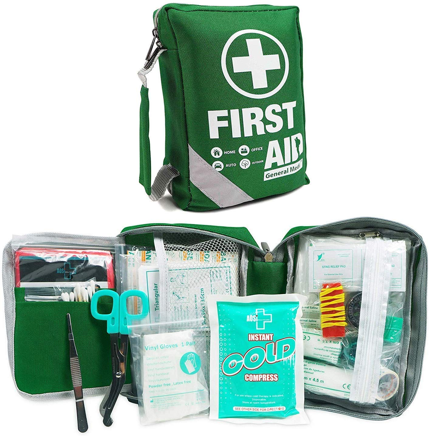 First Aid Kit -Compact First Aid Bag(175 Piece)