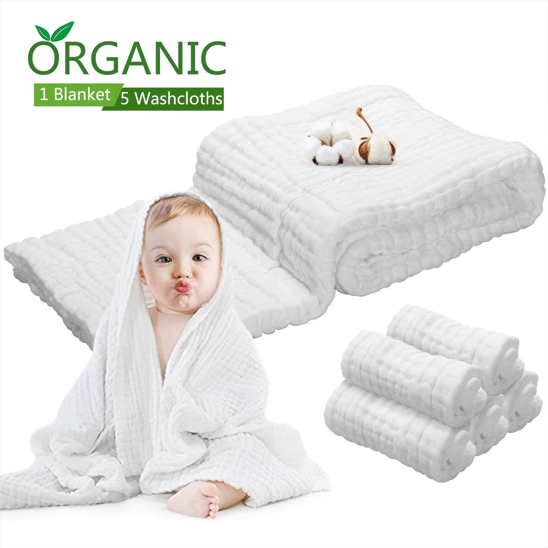 6 PCS Baby Towels Muslin Washcloths Set