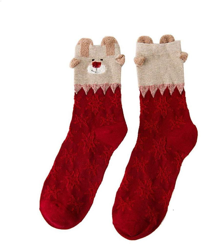 80% off Women Christmas Printed Cotton Socks Novelty Cute Winter Socks Socks