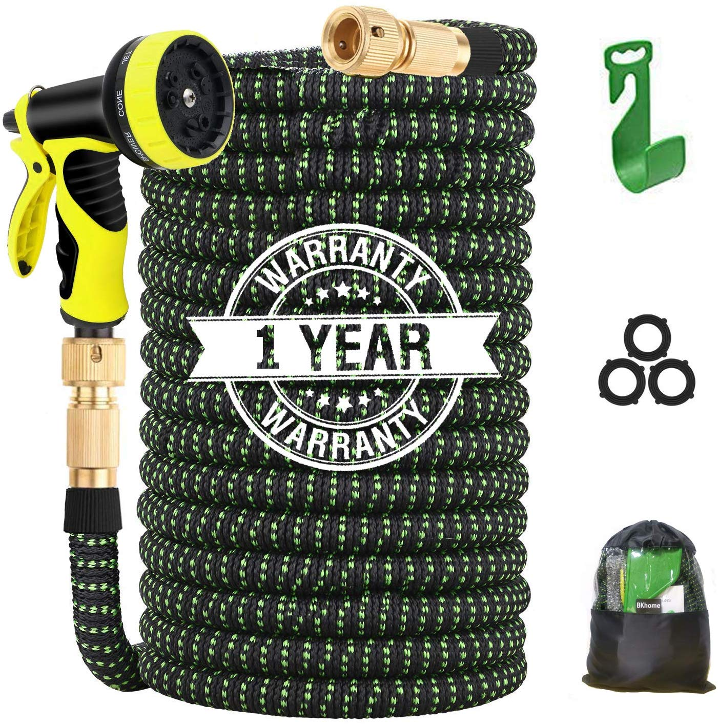BKhome 100FT Expandable Garden Hose Pipe