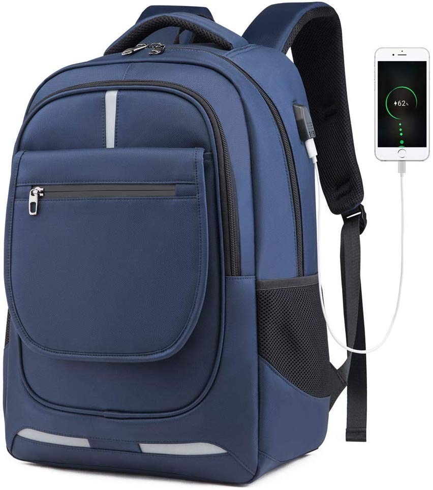 Travel Laptop Backpack, Professional Business Backpack with USB Charging Port
