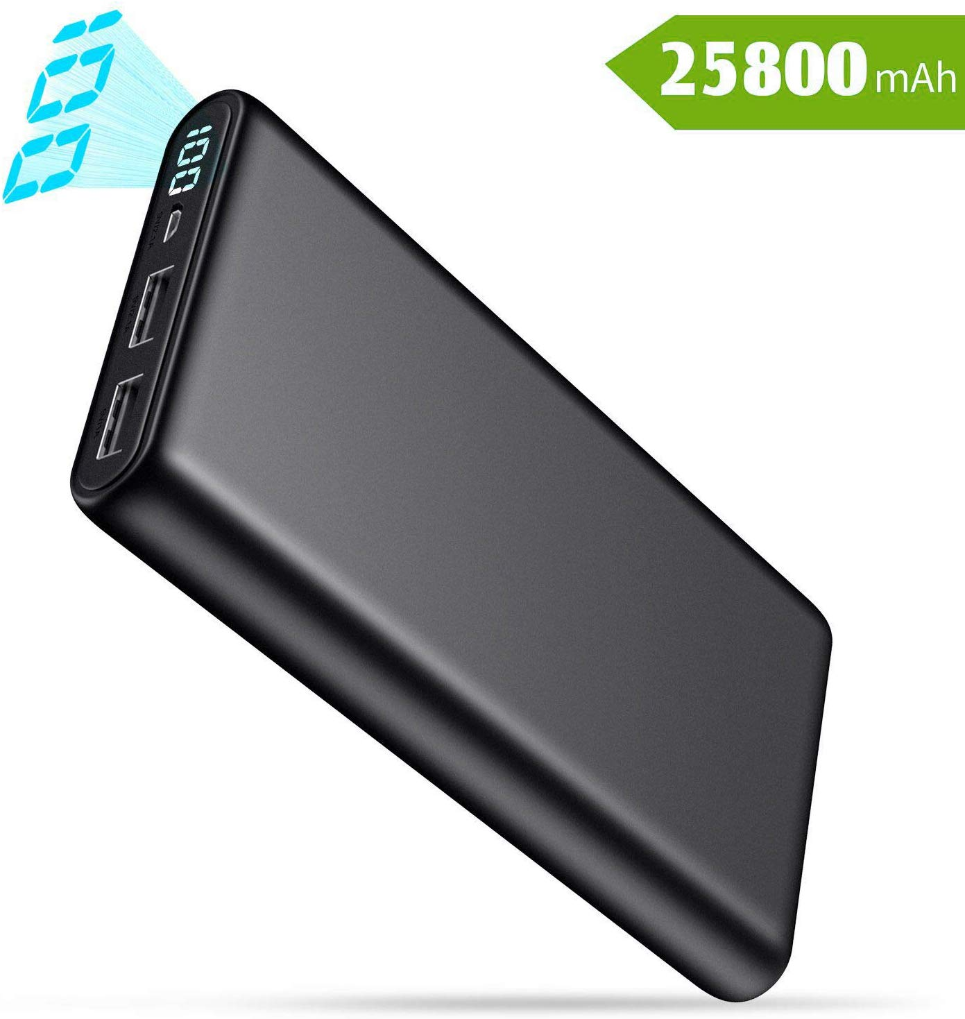QTshine Power Bank, Portable Charger [25800mAh] High Capacity External Battery Pack