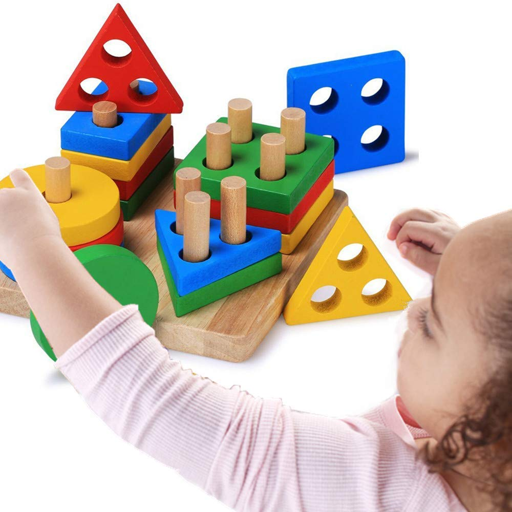 Wooden Shape Sorter Board Toys