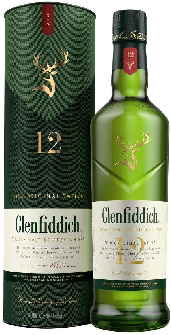Glenfiddich 12-Year-Old Whisky, 70 cl