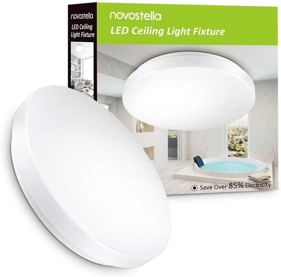 Novostella 15W Waterproof LED Ceiling Light 1200lm, 6000K Daylight White