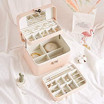 3 Layers Semi-Automatic Travel Jewelry Box (apply voucher)