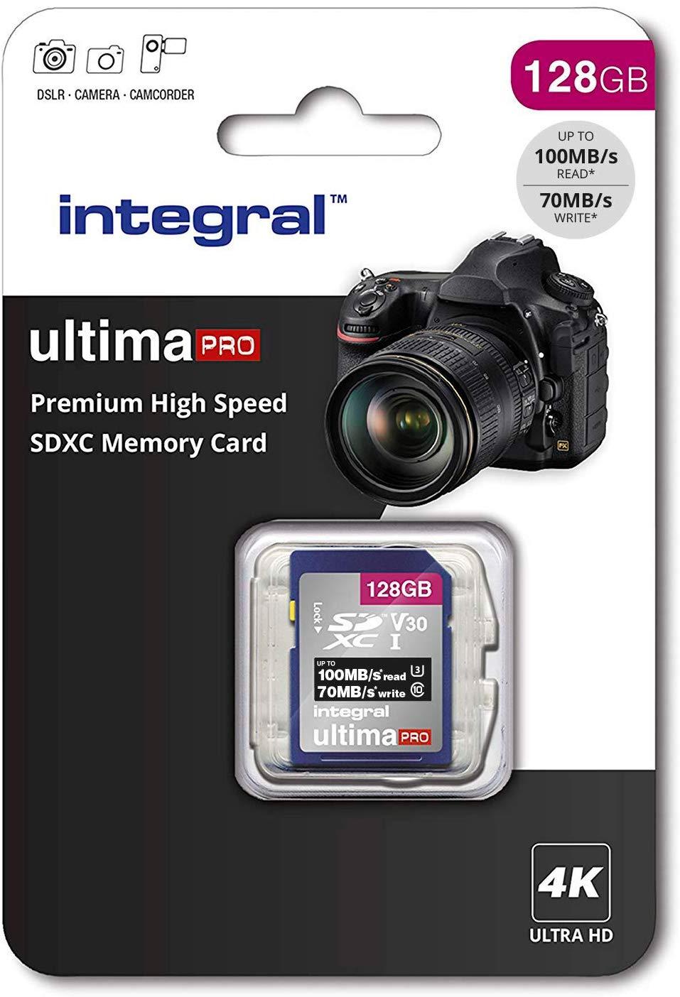 Integral 128Gb SD Card Premium 4K High Speed + Free Shipping