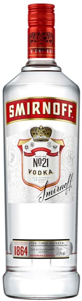Smirnoff Red Label Triple Distilled Vodka, 1L