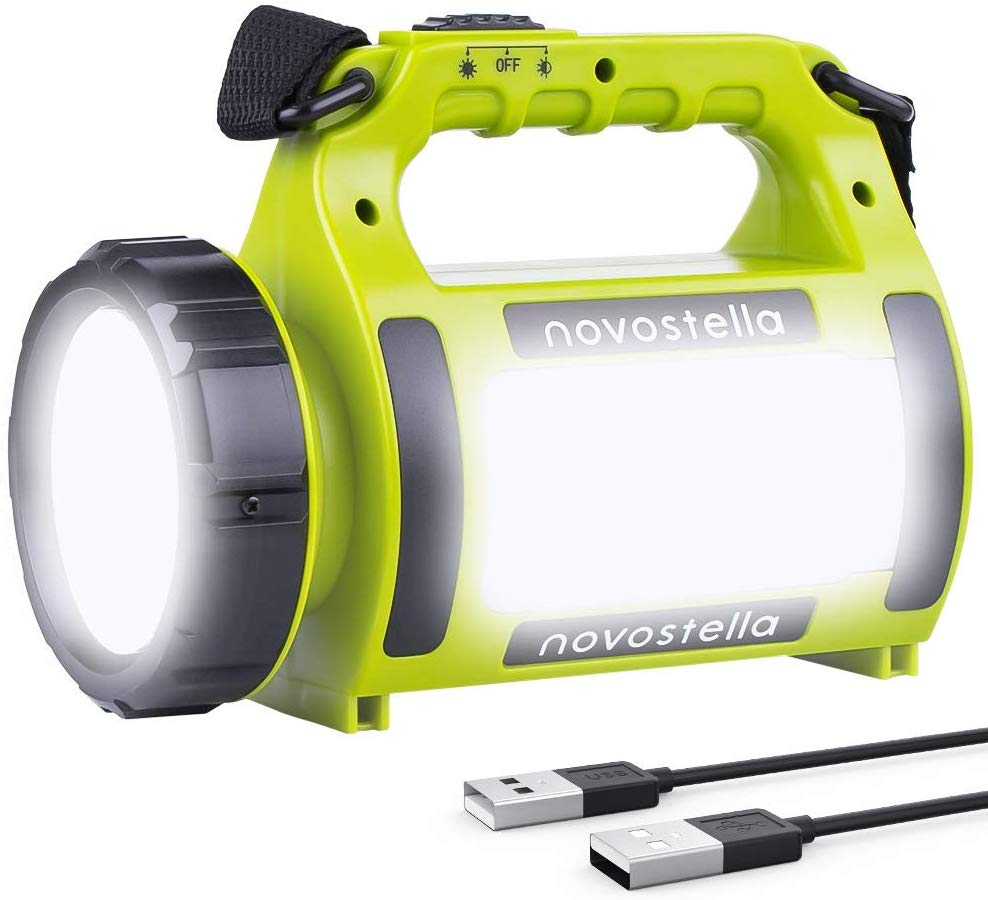 NOVOSTELLA Rechargeable CREE LED Torch, 650lm Lightweight Lantern, 2000mAh Battery
