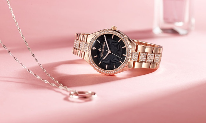 One or Two Timothy Stone Gala Women's Watches with Crystals from Swarovski® £14.99 Delivered