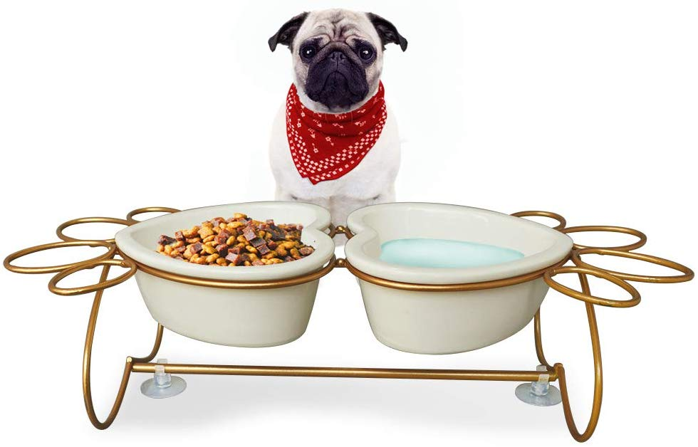 PETAFLOP Dog Bowls Elevated Cat Food Bowls Raised Dog Bowls