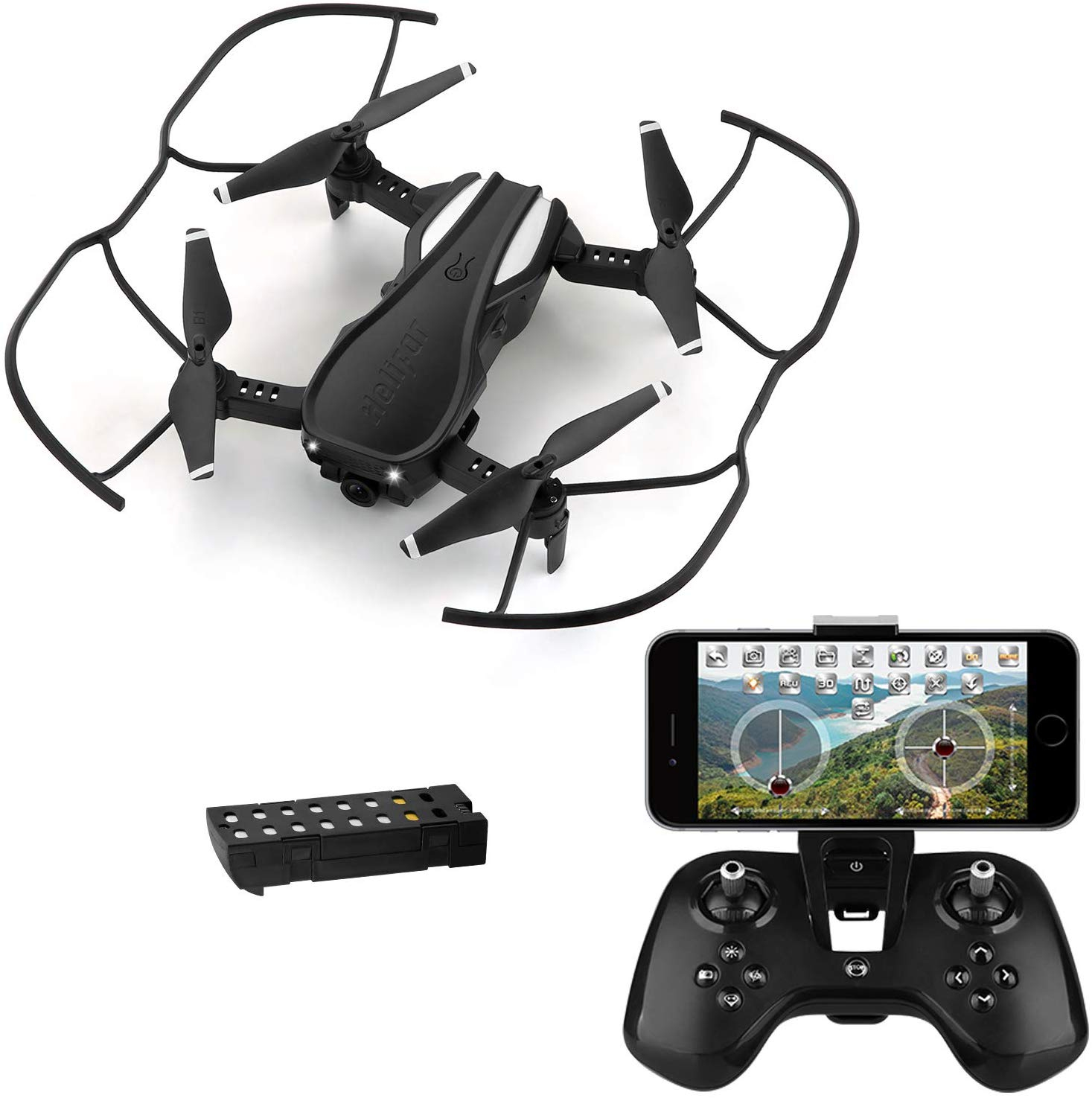 HELIFAR WiFi FPV Drone with 720P HD Camera, H1 Wide-Angle Live Video RC Quadcopter
