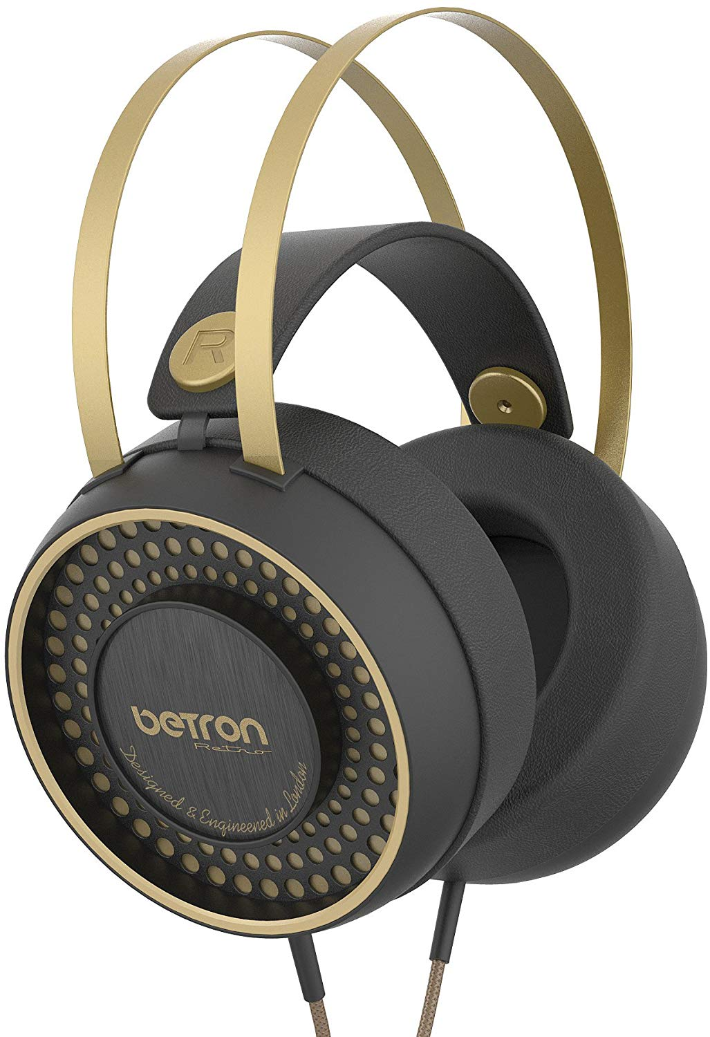 Betron Retro Over Ear Headphones Bass Driven Sound