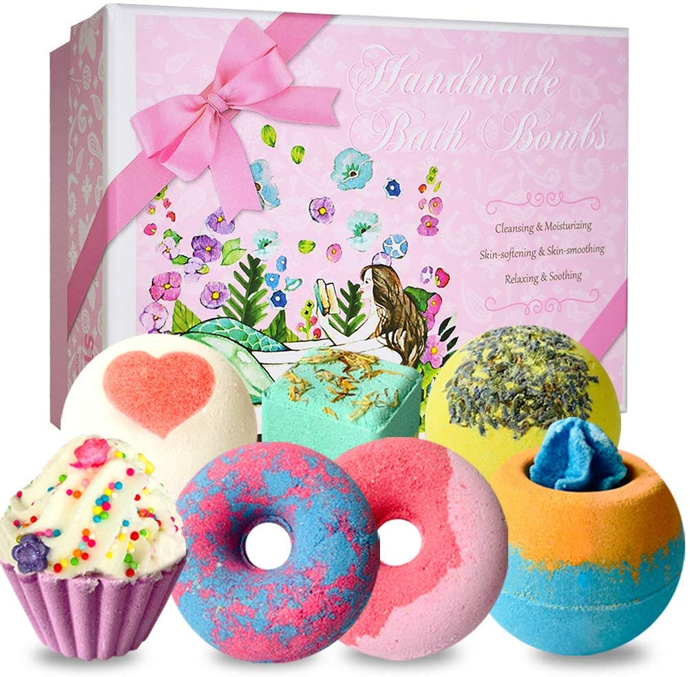 7 Natural Bath Bombs Kit