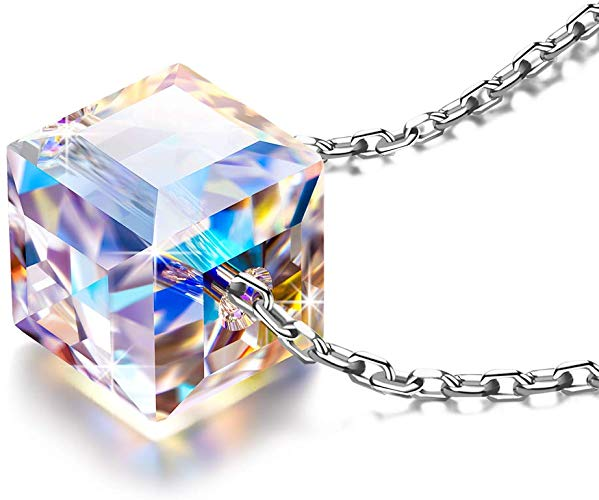 Aurora Borealis Crystal from Swarovski, Cable Chain