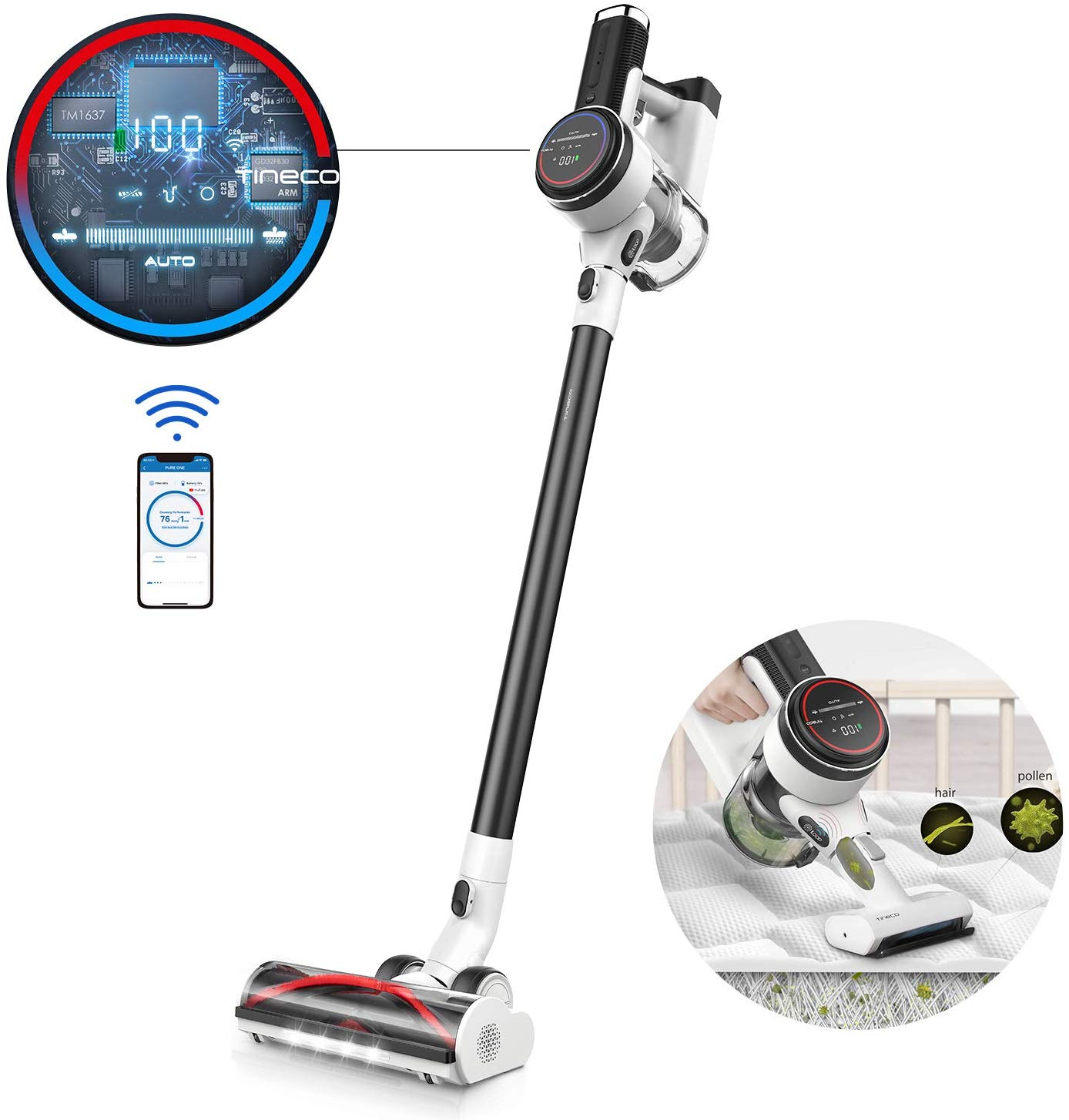 Tineco Cordless Vacuum Cleaner PURE ONE S12 Handheld Stick Vacuum Smart Suction