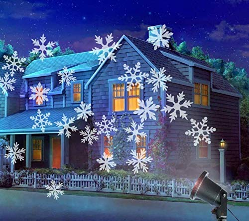 Christmas Lights Outdoor Xmas Lights Outside LED Projector Halloween Decorations Waterproof