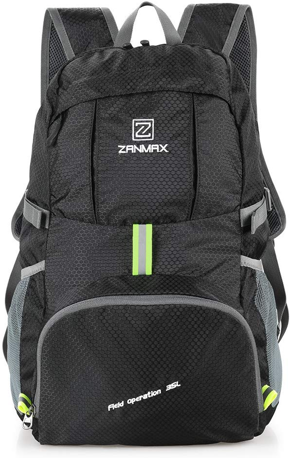 Packable Backpack 35 Litre Lightweight, Zanmax Foldable Cycling Hiking Camping Daypack