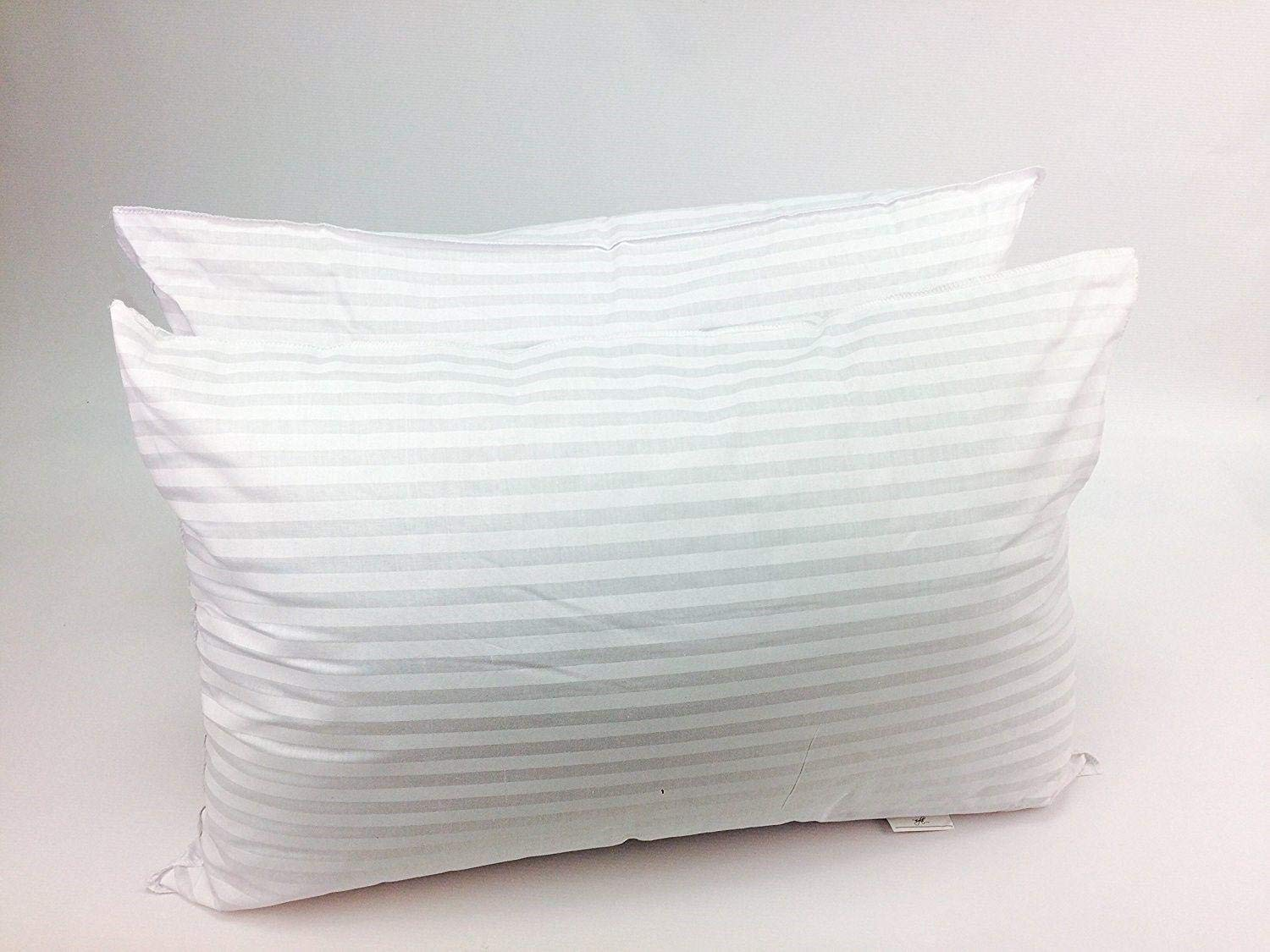 X11 Homeware Pillows Hollowfibre Bounce Back Firm Filling Stripes Feel Pack of 2