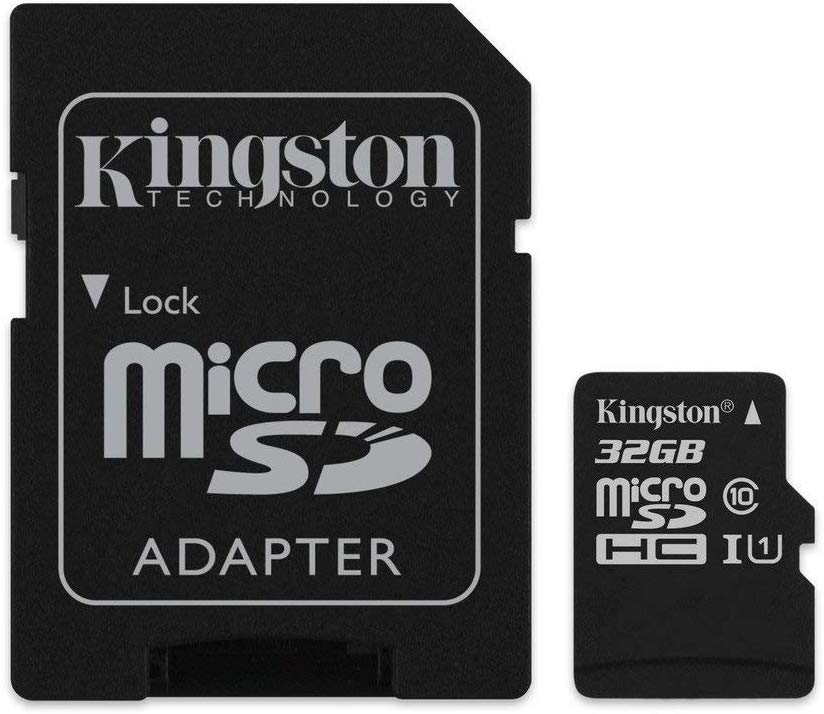 2 Kingston MicroSD 32GB with SD Adapter £7.54 Prime