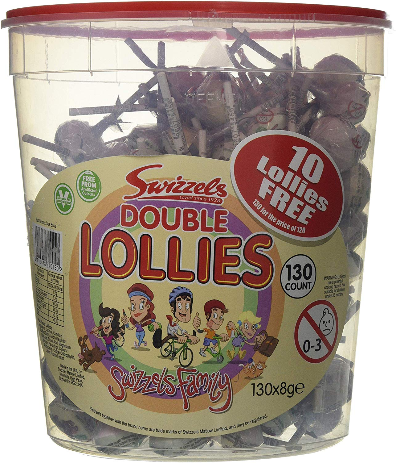 Swizzels Double Lollies Original (tub of 120) £5 Prime