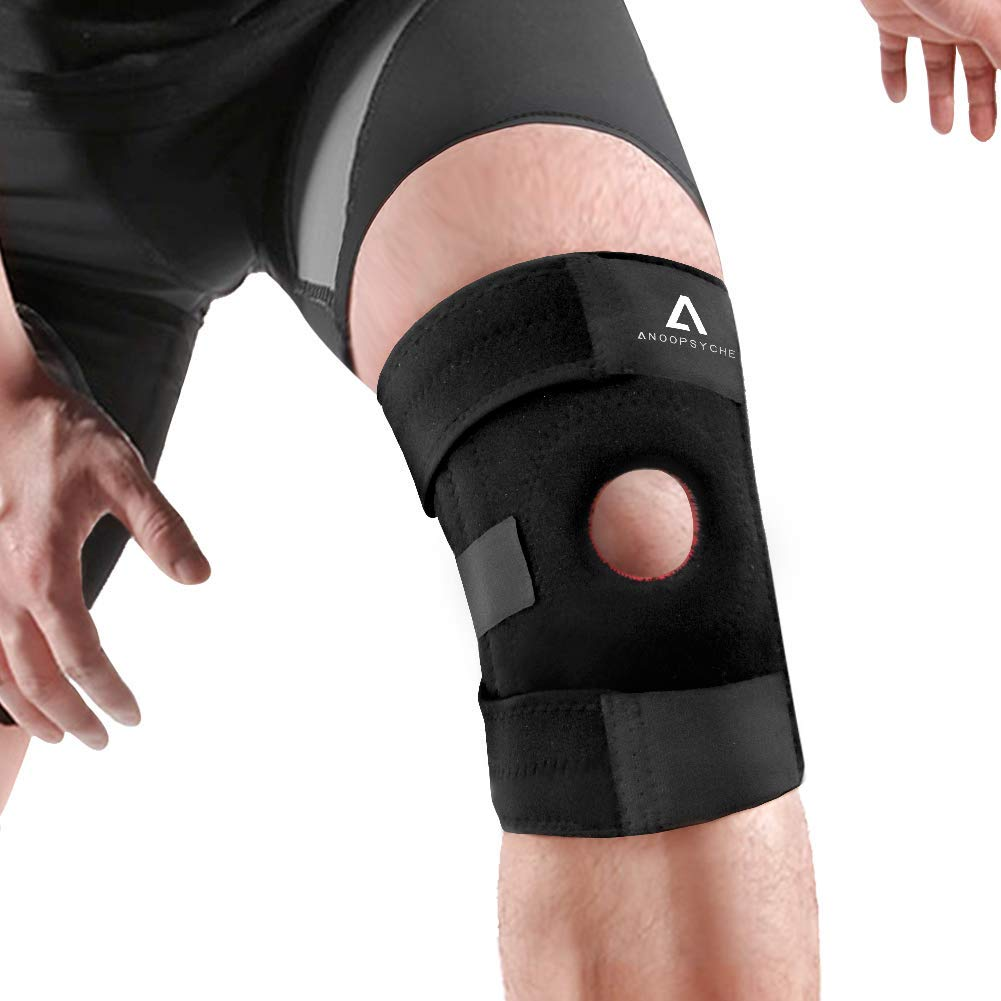 Anoopsyche Knee Support for Men Women, Adjustable Open-Patella Neoprene Knee Brace