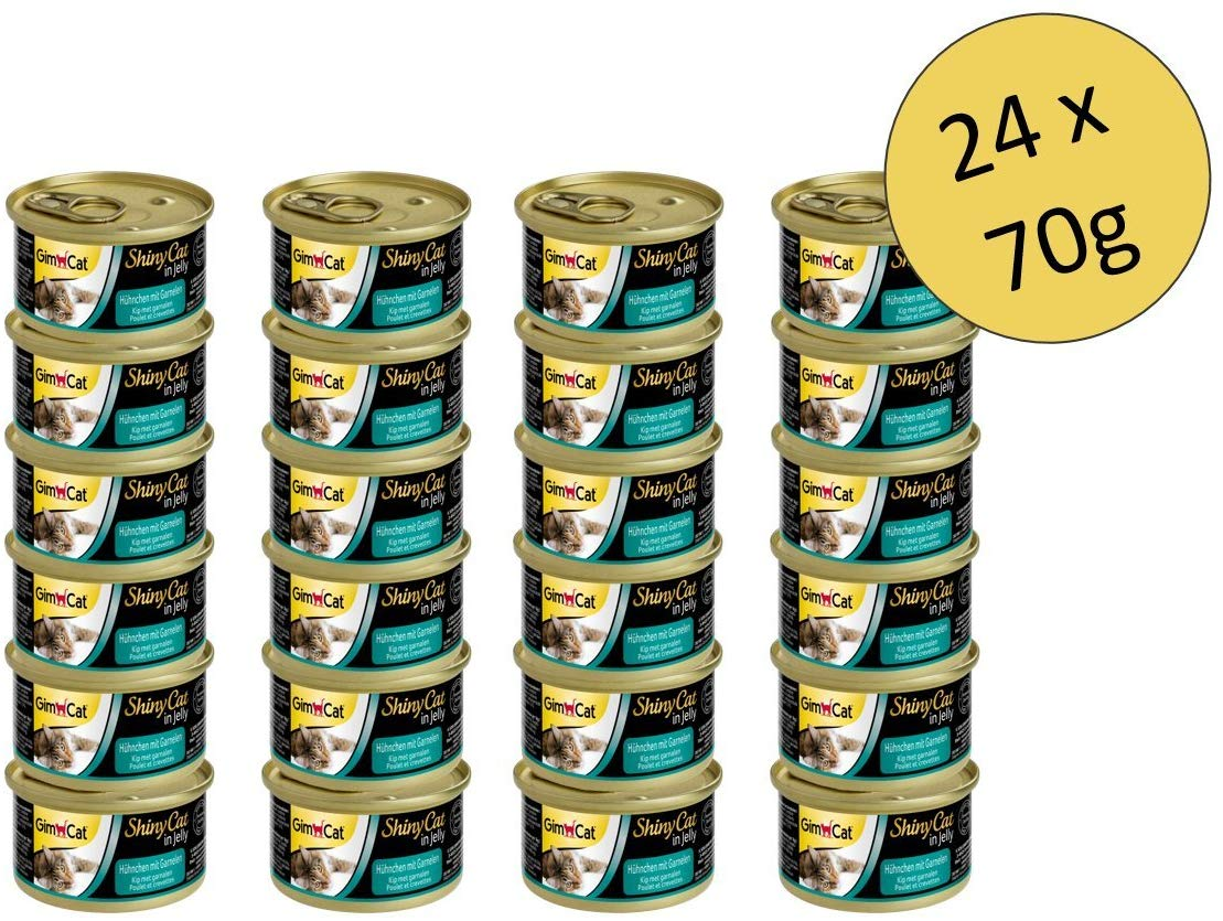 Cat food with poultry in jelly for adult cats (24 x 70 g)