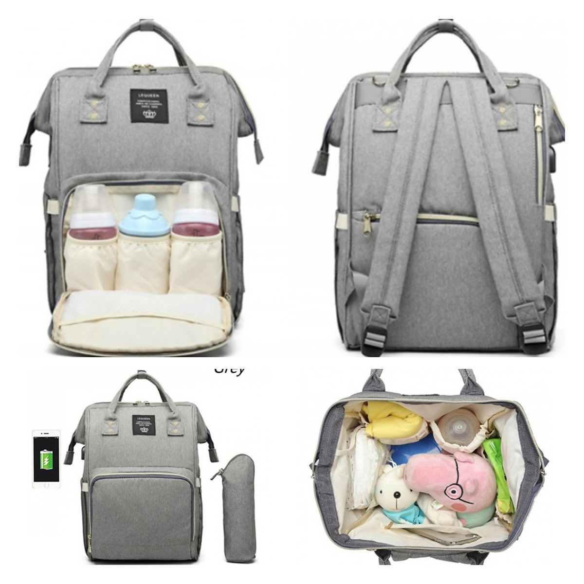 72% OFF Baby Changing Backpack With Built-in USB Charger – 5 Colours