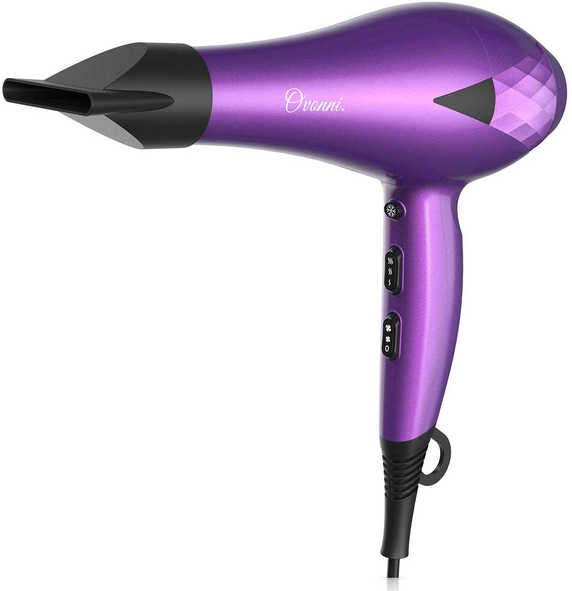 Ovonni Ionic Hair Dryer with Bonnet Hood, Pro 2000W Negative Ion Ceramic Tourmaline AC Motor Blow Dryer