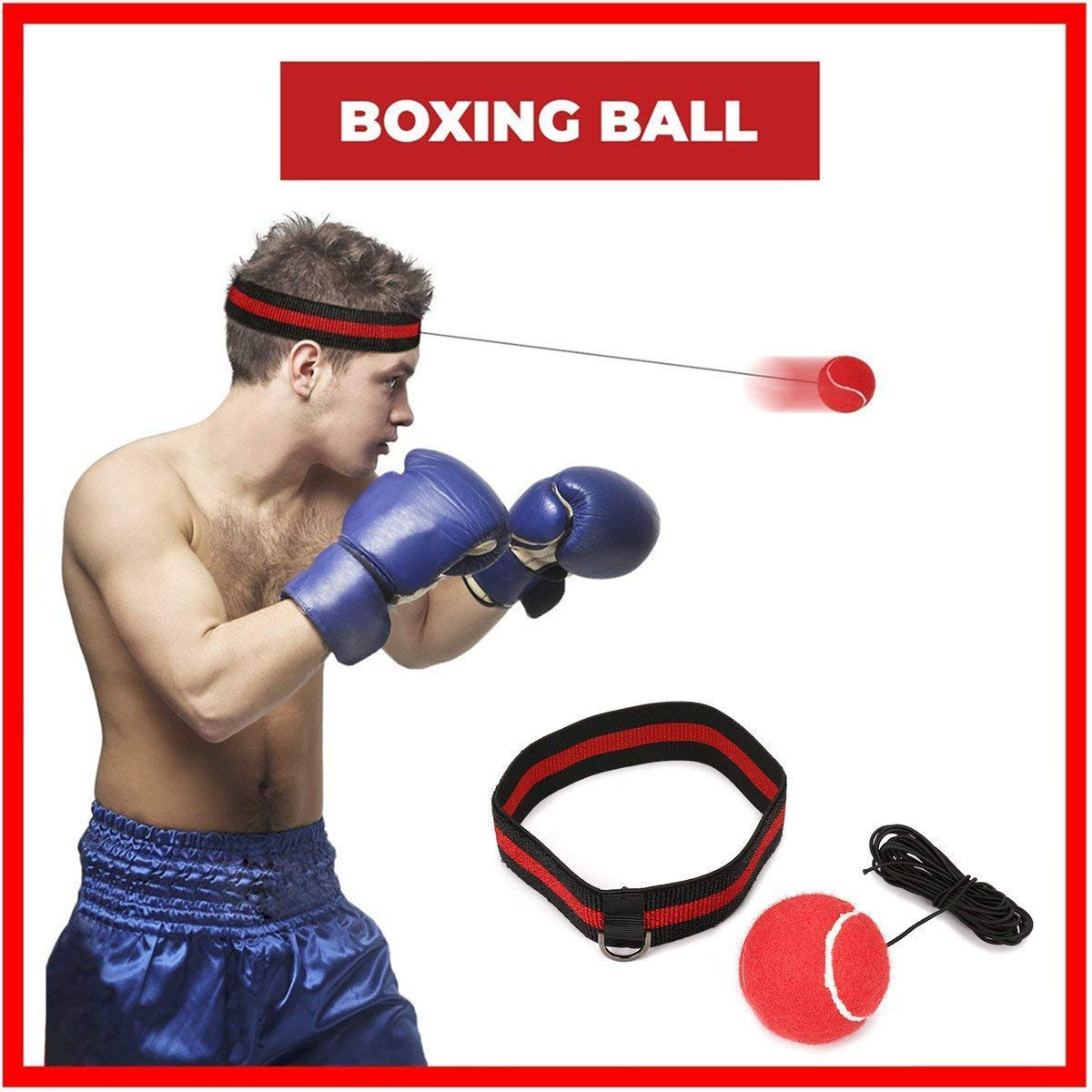 SGODDE Reflex Boxing Ball, Fight Ball Reflex on String with Headband