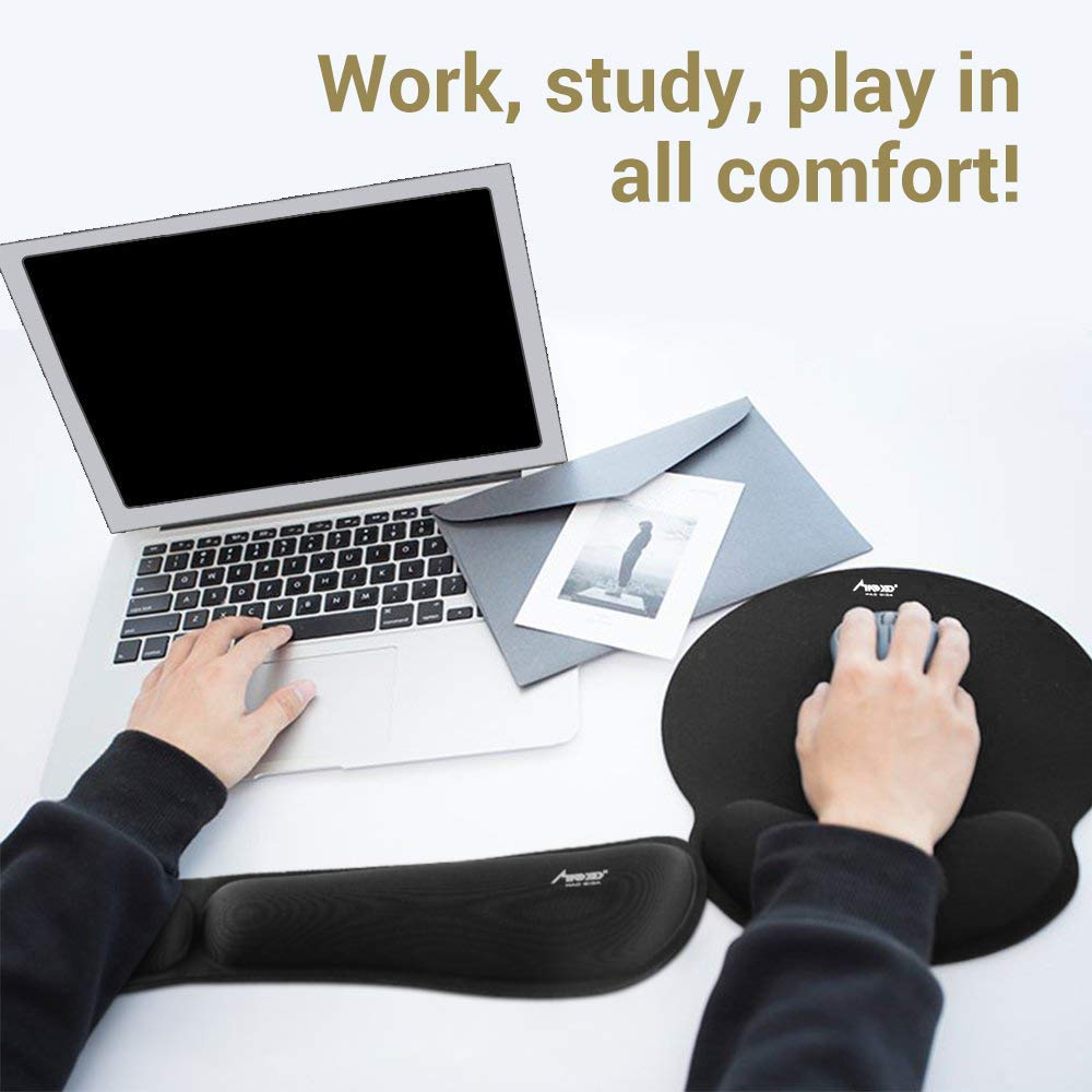 Mouse Pad,MAD GIGA Mouse Pad,Comfortable Memory Foam Mouse Pad