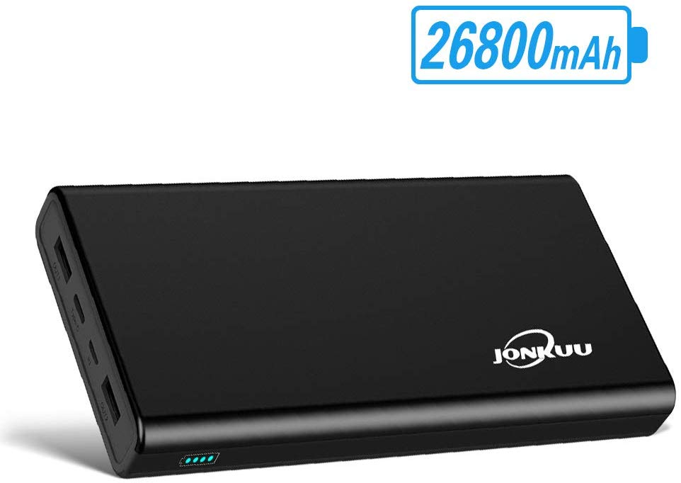 Jonkuu Portable Phone Charger Power Bank 26800mAh External Battery Pack