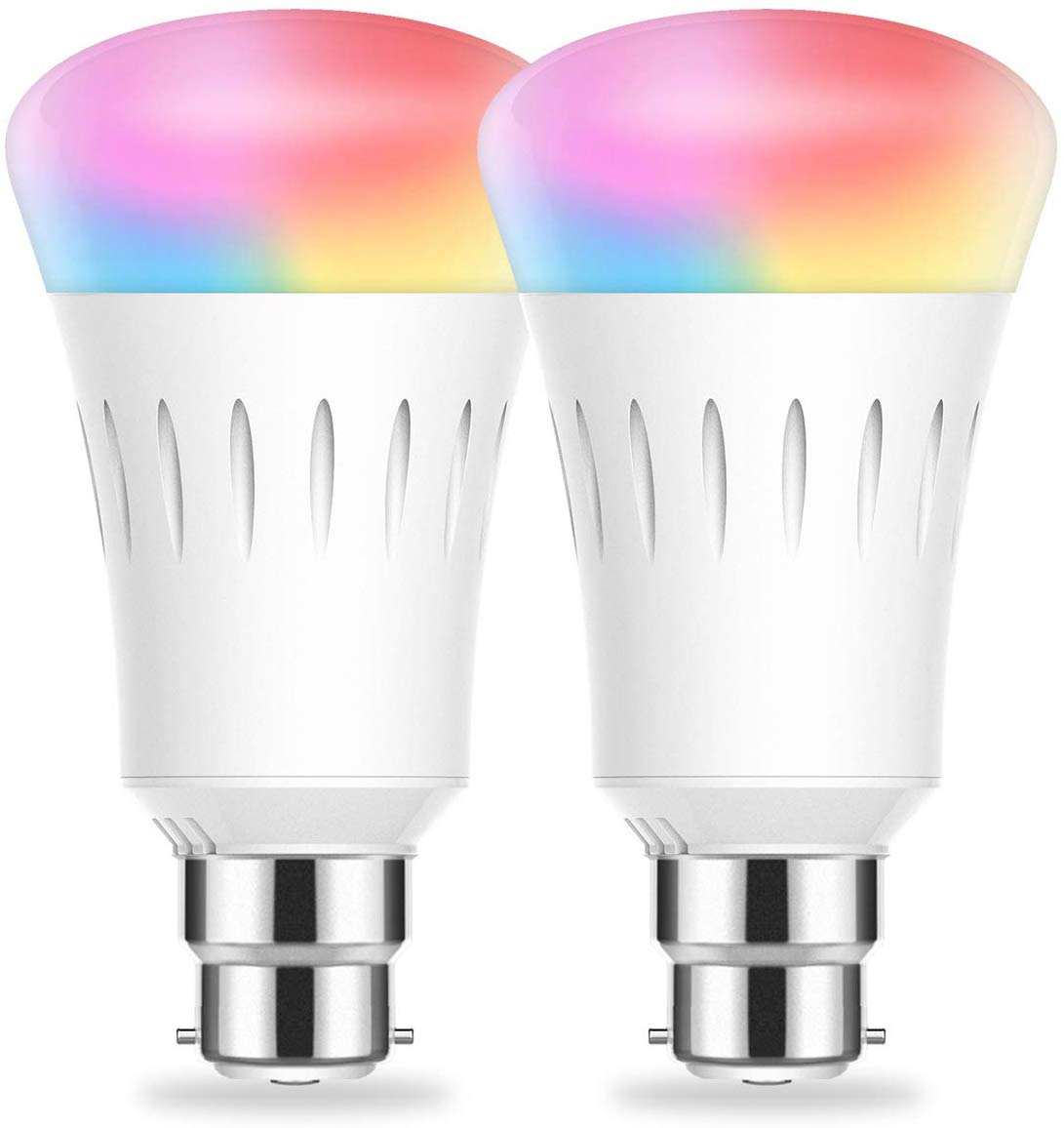 WiFi Smart B22 Bayonet Bulbs, Alexa Light Bulb, 2 Pack