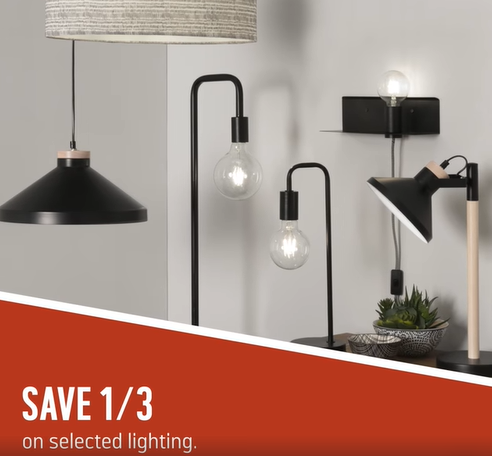 Save 1/3 on Argos Amazing Range of Lighting