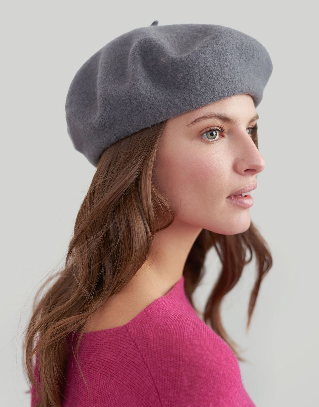 Joules Womens Wilsford Felted Beret in CHARCOAL in One Size £3.95 Delivered