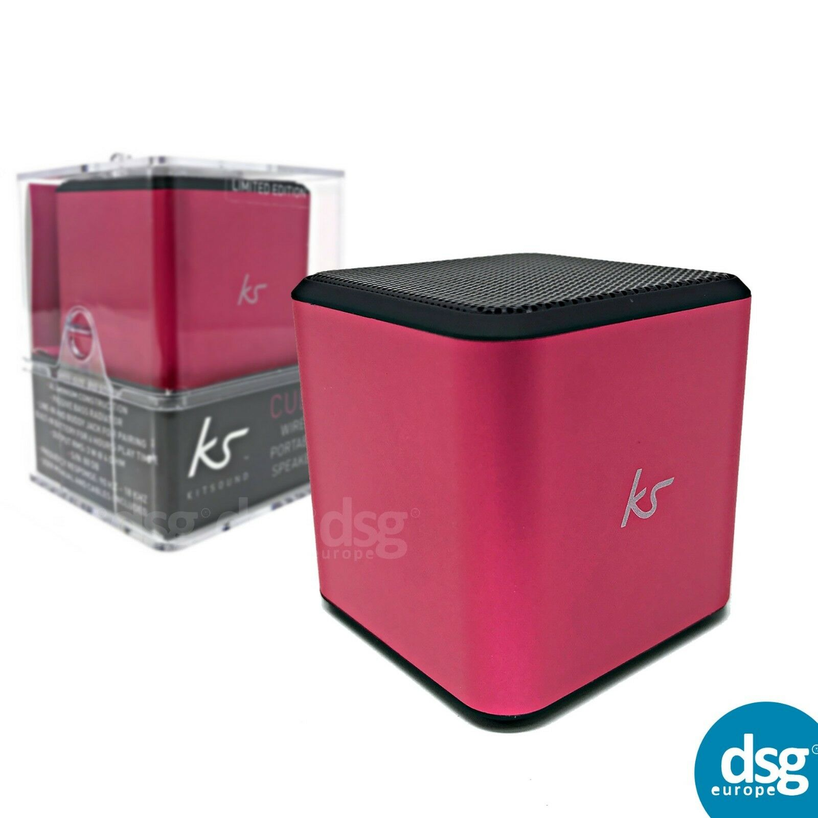 KitSound Cube Wired Mini  Rechargeable Portable Speaker £4.99 Free Postage