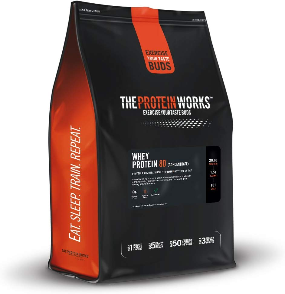 The Protein Works Whey Protein 80 (Concentrate) Shake Powder, 2 kg