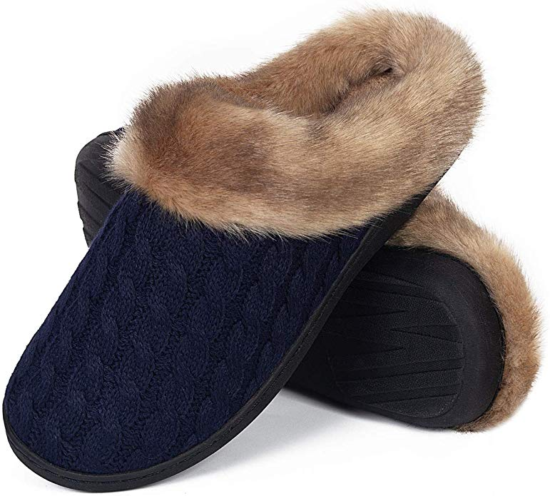 Ladies Slipper House Memory Foam Slippers Comfort and Warm Slippers
